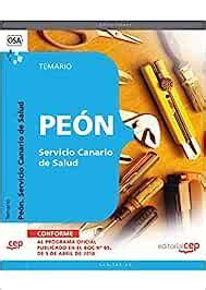 Peon Servicio Canario De Salud Temario Coleccion 1497