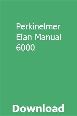 Perkinelmer Elan Manual
