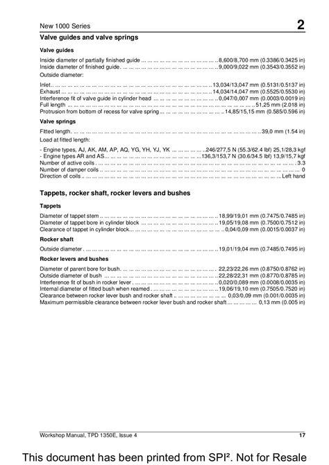Perkins 1000 Series Service Manual