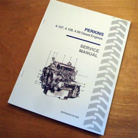 Perkins 4 107 Engine Service Manual