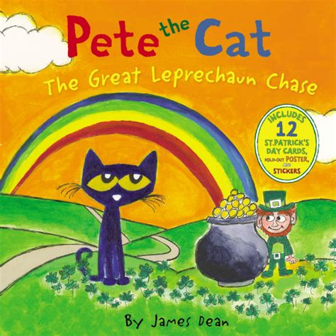 Pete The Cat The Great Leprechaun Chase Includes 12 St Patrick S Day Cards Fold Out Poster And Stickers