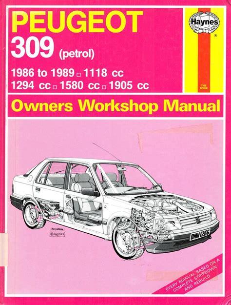 Peugeot 309 Gti Workshop Manual