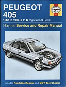Peugeot 405 Petrol Service Repair Manual 1991 1996