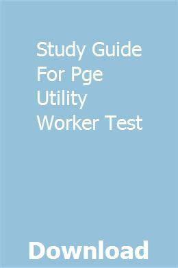 Pge Tech Test Study Guide