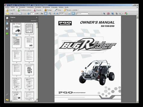 Pgo Bugrider 250 Workshop Manual