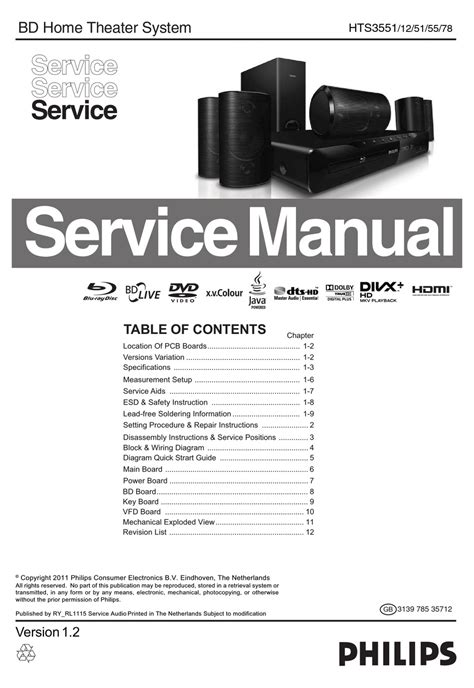 Philips 40pfl5507h Service Manual And Repair Guide