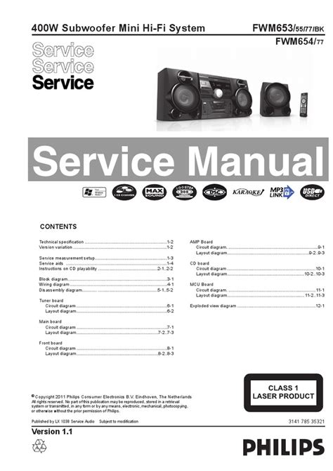 Philips Fwd576 Mini System Service Manual