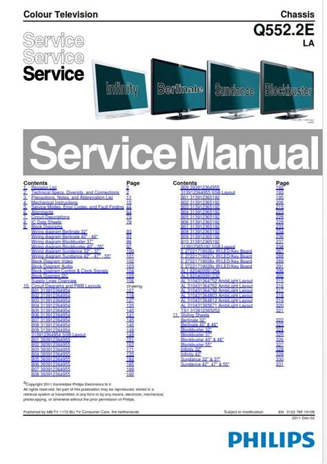 Philips Gr21aa Colour Television Repair Manual