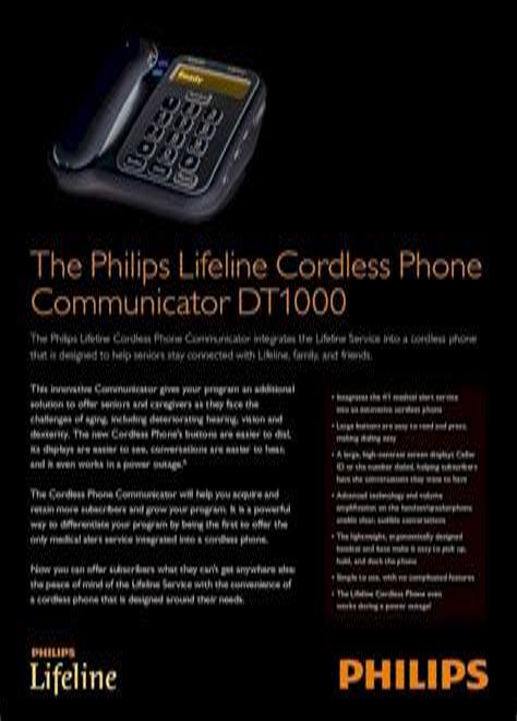 Philips Lifeline Cordless Phone Communicator Manual