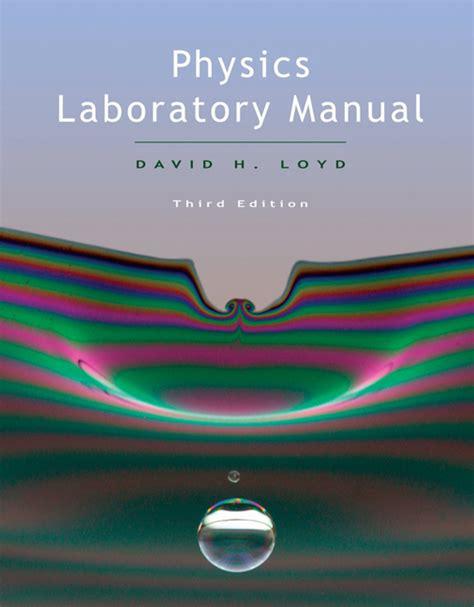 Physics Laboratory Manual Loyd Third Edition