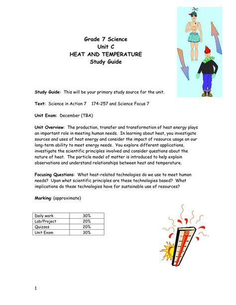 Physics Thermal Energy Study Guide Answers
