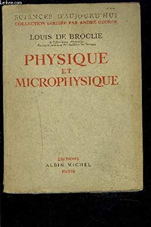 Physique et microphysique.