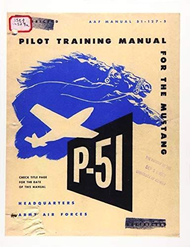 Pilot Manual For The P 51 Mustang Pursuit Airplane