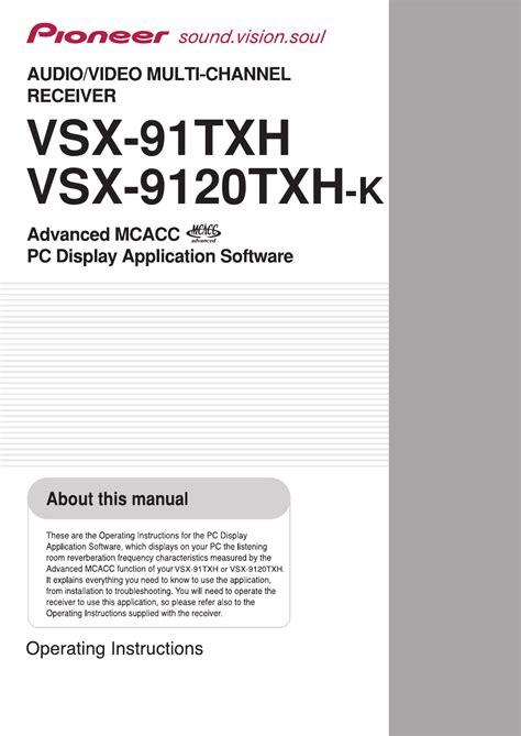 Pioneer Vsx 91txh 9120txh Service Manual And Repair Guide