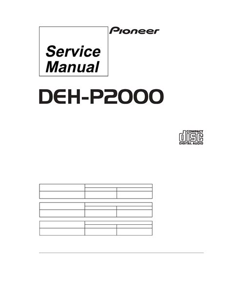 Pioneer Deh P2000 Manual Download Ipod Facts On The