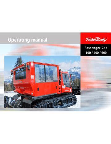 Pistenbully 100 Service Manual