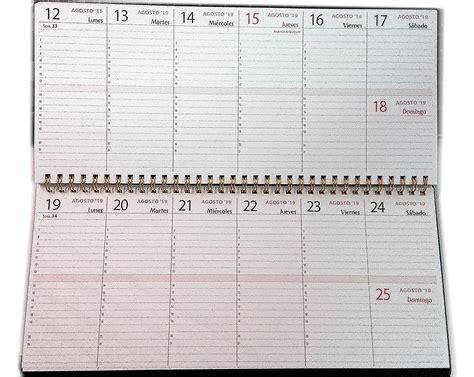 Planificador Semanal De Mesa 18 Meses 2018 Y 2019 30x14cm
