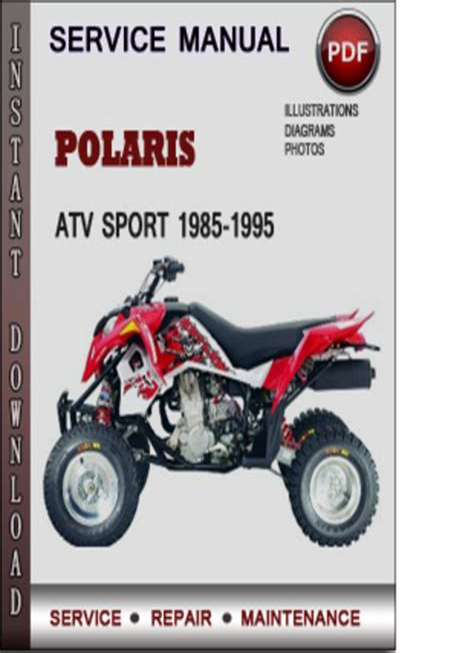 Polaris Atv Sport 1994 1995 Workshop Repair Service Manual