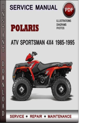Polaris Sportsman Atv Service Repair Manual 1993 1995