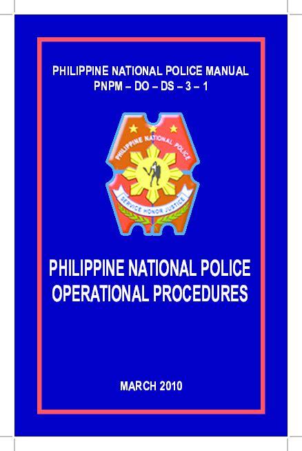 Police Operational Procedure Manual 2018