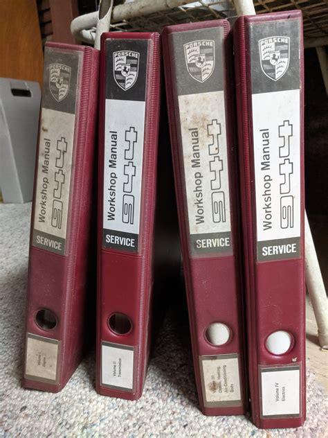 Porsche Workshop Manual 944 Four Volume Set