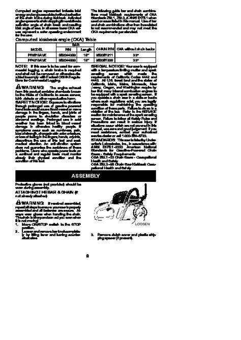 Poulan Pro 3516avx Repair Manual