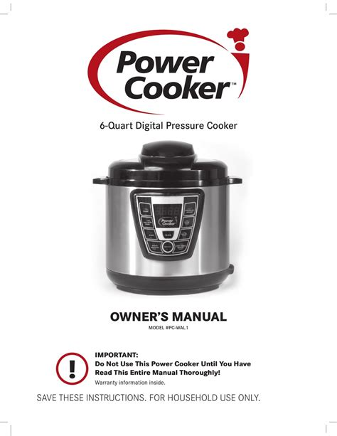 Power Cooker Instructions Quick Start Guide