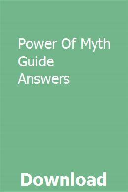 Power Of Myth Guide Answers