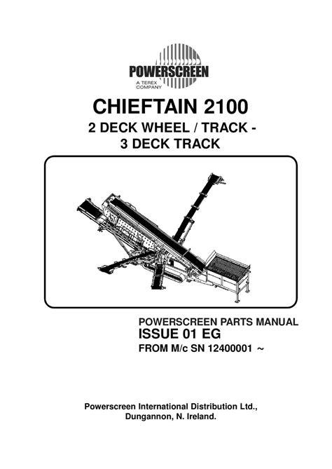 Powerscreen Parts Manual