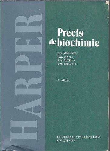 Précis de biochimie.