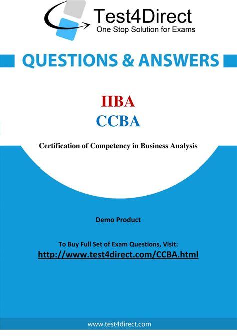 Practice CCBA Exams Free
