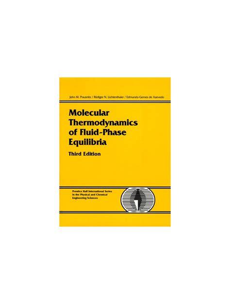 Prausnitz Molecular Thermodynamics Solution Manual