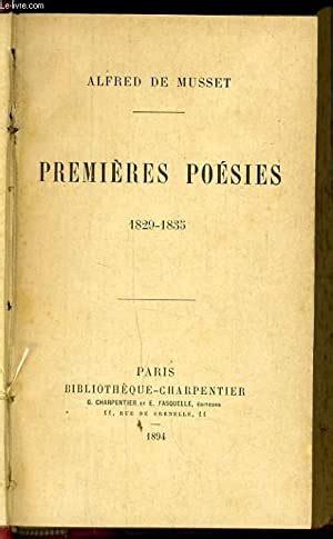 Premieres Poesies 1829 1835