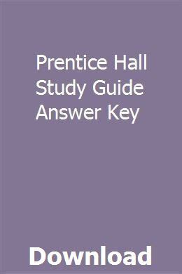 Prentice Hall Answer Key Physics Study Guide