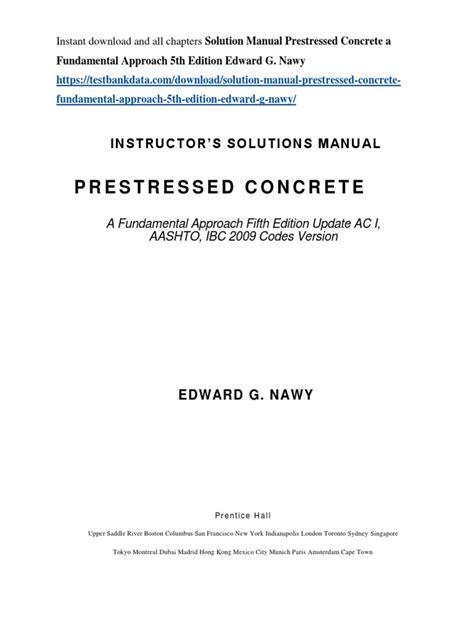 Prestressed Concrete Solution Manual