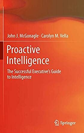 Proactive Intelligence The Successful Executives Guide To Intelligence