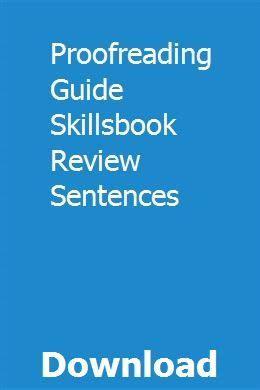 Proofreading Guide Skillsbook