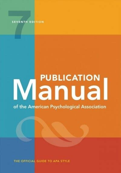 Publicatio Manual Of The American Psychological Association