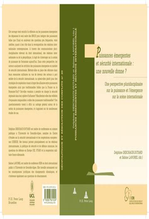 Puissances Emergentes Et Securite Internationale Une Nouvelle Donne Une Perspective Pluridisciplinaire Sur