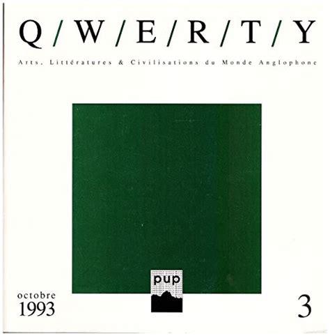 Q/W/E/R/T/Y : Arts, littératures et civilisations du monde anglophone