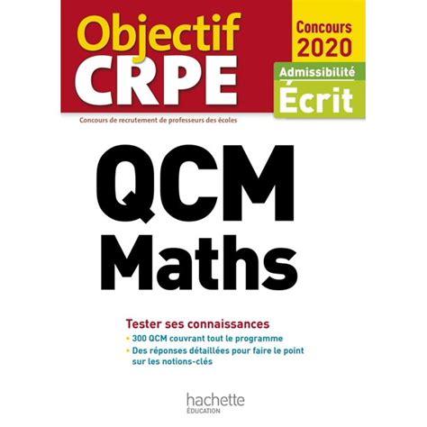 Qcm Crpe Maths