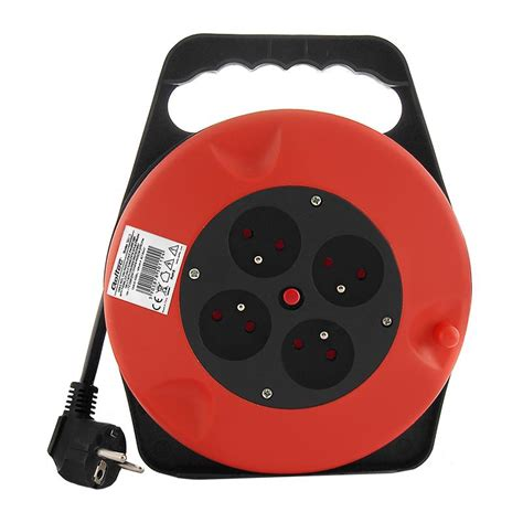 Qoltec Cable Reel 4 Power Socket 10 0m Cable