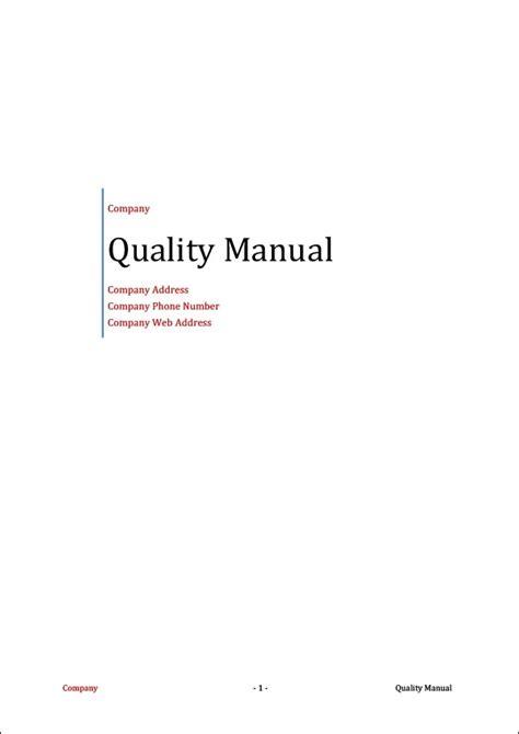 Quality Manual Engineering