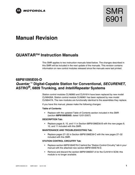 Quantar Service Manual
