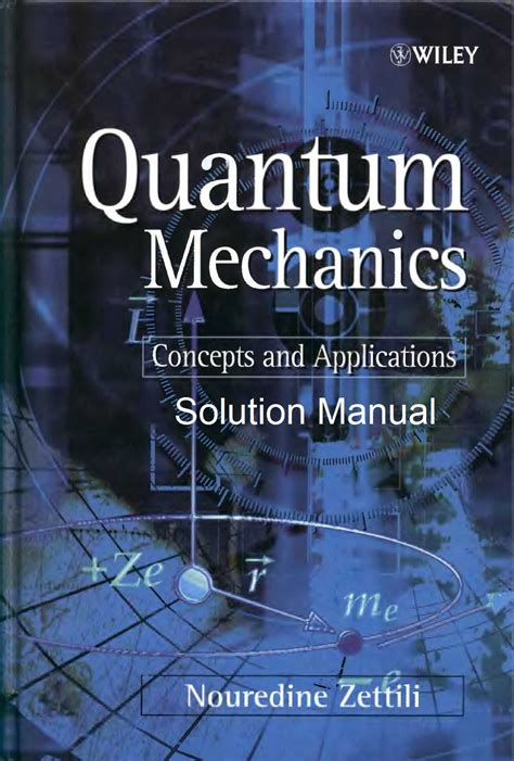 Quantum Mechanics Zettili Solution Manual