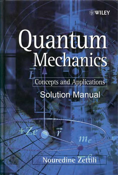 Quantum Mechanics Zettili Solution Manual 2