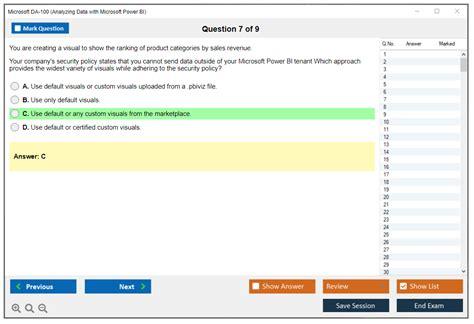 Questions DA-100 Exam