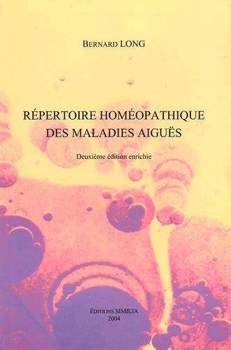 Répertoire homéopathique des maladies aiguës
