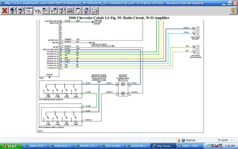 Radio Wiring Diagram 06 Chevy Cobalt