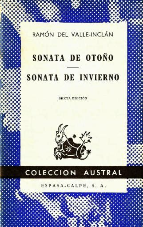 Ramon Maria Del Valle Inclan Sonata De Estio 1903